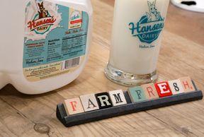 Hansen's Dairy farm fresh milk